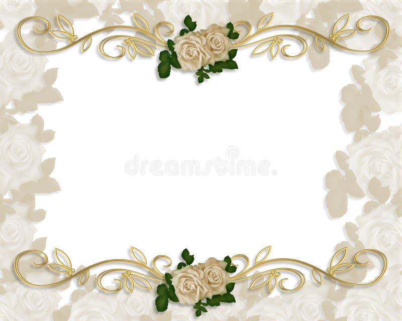 zaproszenie do róż wiktoriańskie ślub royalty ilustracja