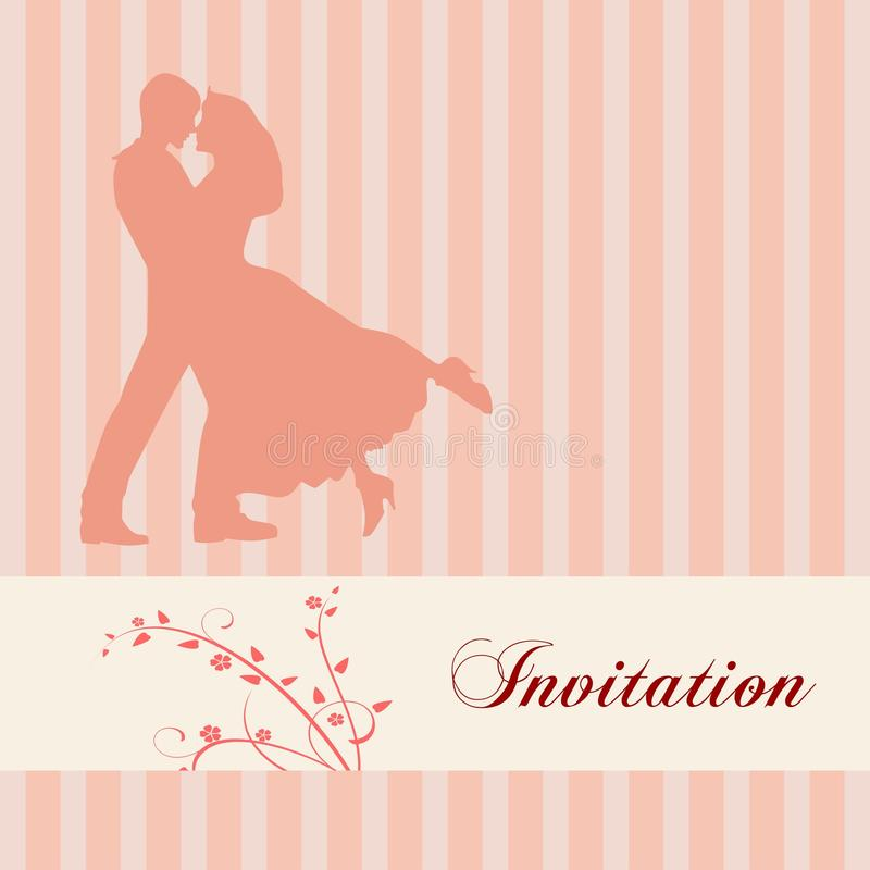 zaproszenie elegancki ślub ilustracji