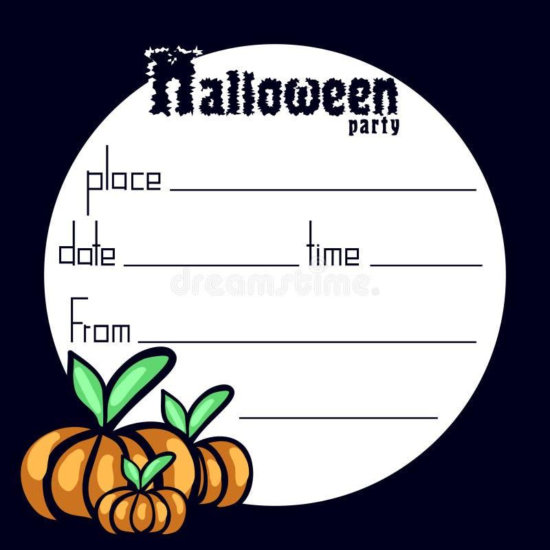 Zaproszenie Halloween przyjęcie fotografia royalty free