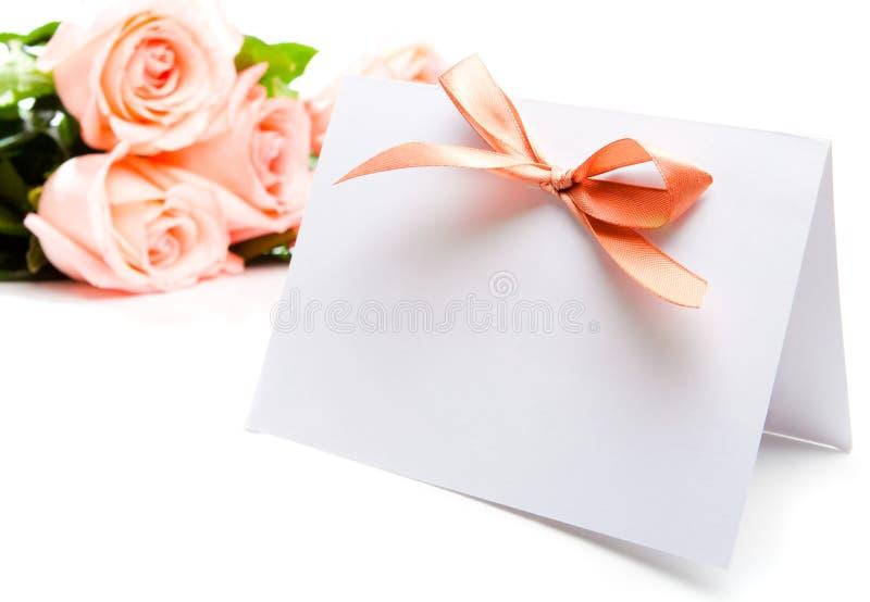 zaproszenie karciane róże fotografia royalty free