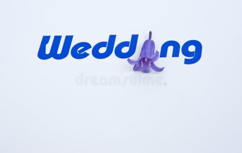 zaproszenie karciany ślub zdjęcie stock