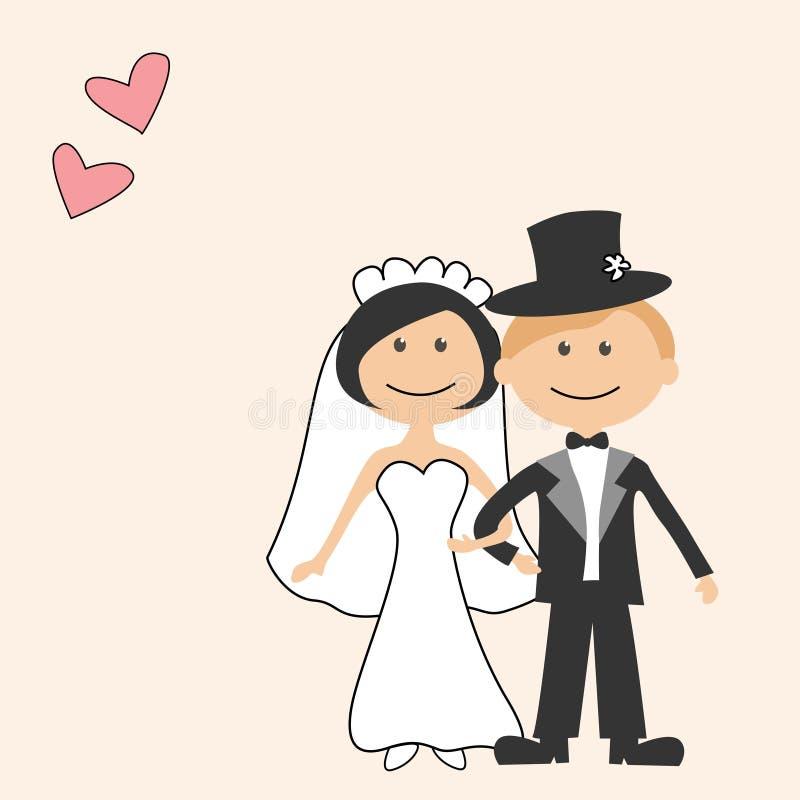 zaproszenie karciany ślub royalty ilustracja