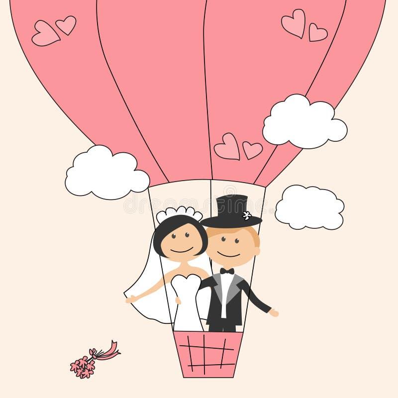zaproszenie karciany ślub ilustracja wektor