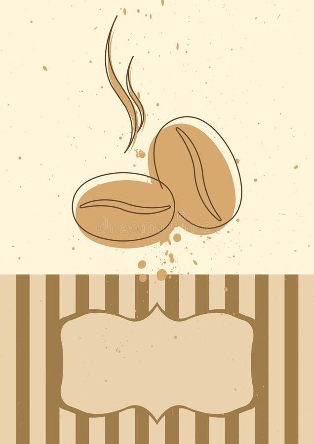 zaproszenie karciany kawowy menu zdjęcie stock