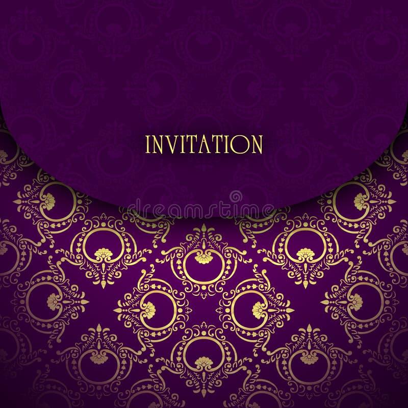 Zaproszenie karciany wektor zdjęcia royalty free