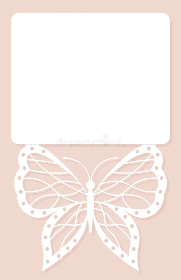 Zaproszenie karta, ślubna dekoracja, projekta element Elegancki ale royalty ilustracja