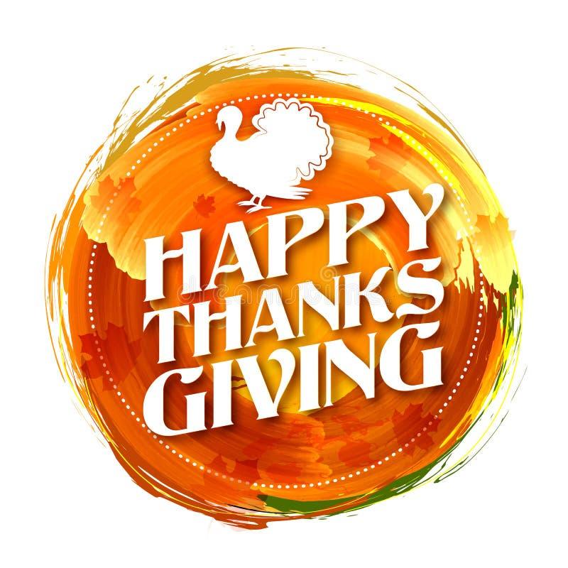 Zaproszenie karta dla Szczęśliwego dziękczynienia z indykiem i liściem klonowym ilustracji