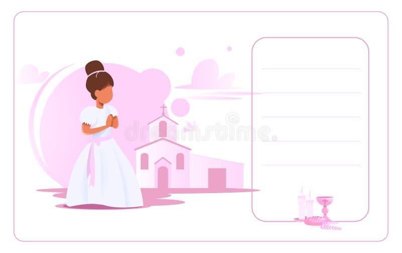 Zaproszenie karta m?j pierwszy communion ilustracji