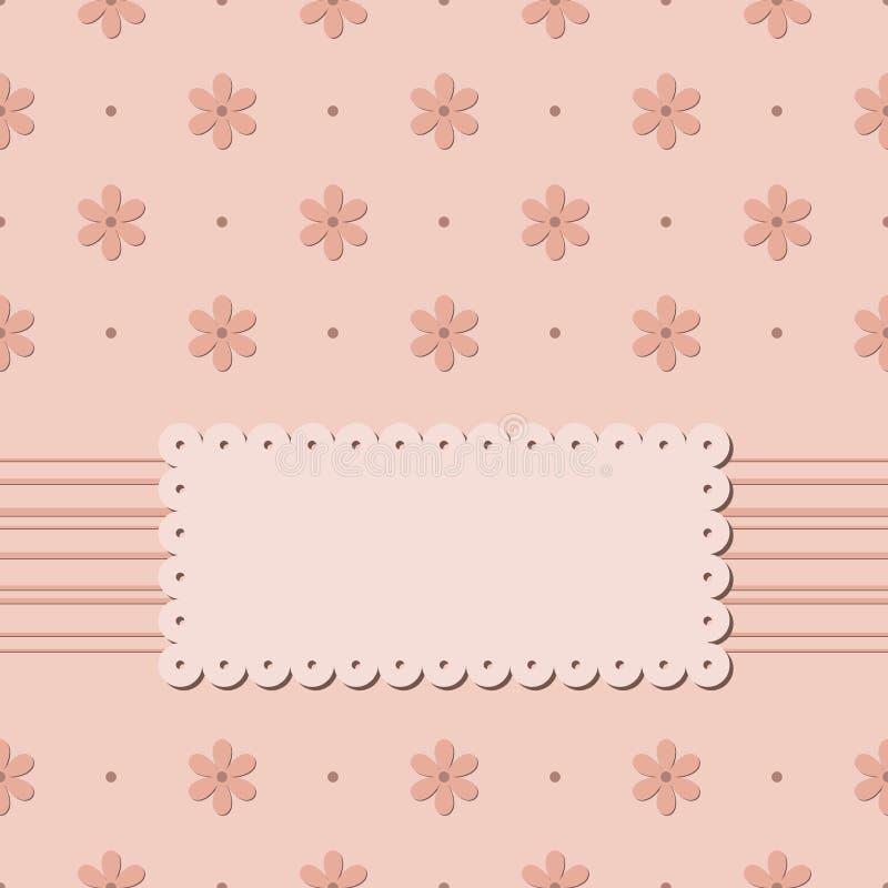 Download Zaproszenie Karta Z Kwiatami Na Beżowym Tle Bez Teksta Ilustracja Wektor - Ilustracja złożonej z dekoracje, piękny: 53791797