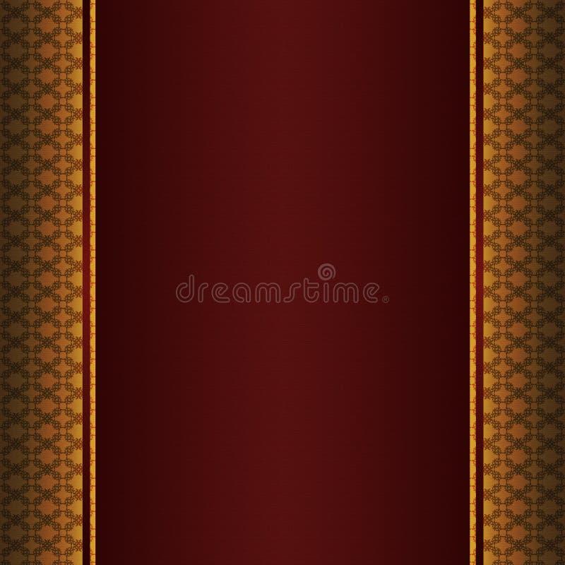 Zaproszenie karta z złoto wzorem royalty ilustracja
