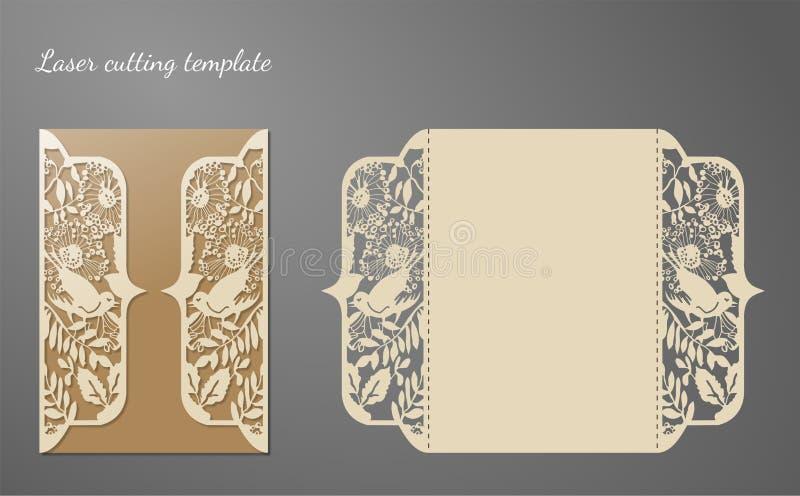 1 zaproszenie karty Laserowy tnący szablon fotografia royalty free