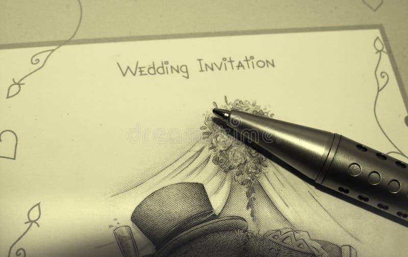 Zaproszenie Na ślub Zdjęcie Stock