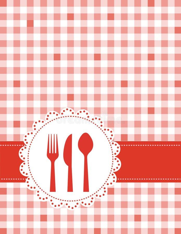 zaproszenie obiadowy menu royalty ilustracja