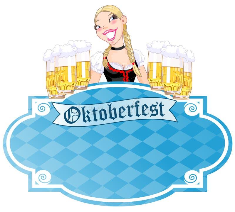 Zaproszenie Oktoberfest ilustracja wektor