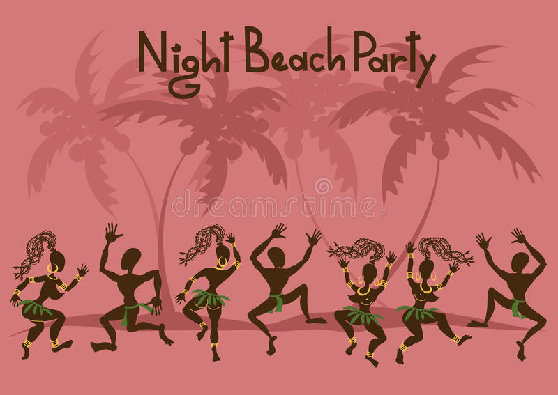 Zaproszenie plażowy przyjęcie ilustracji