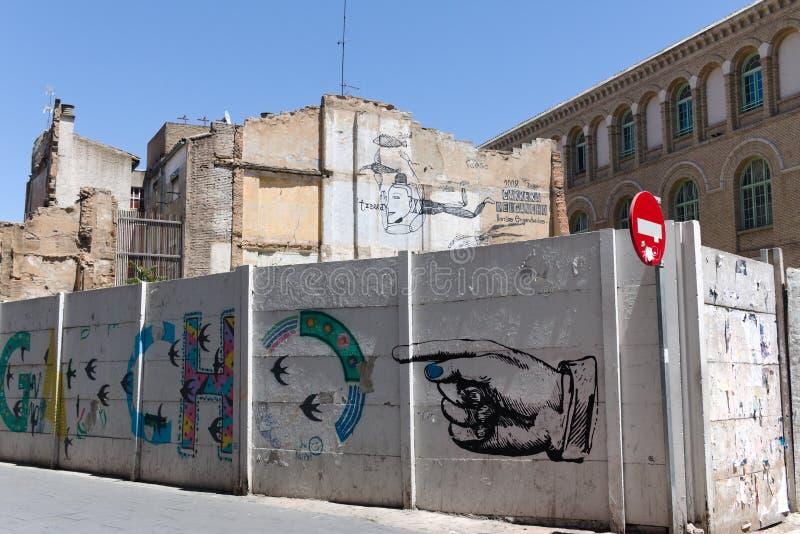 Zaproszenie wchodzić do niewiadomego świat Zaragoza, Hiszpania zdjęcia royalty free