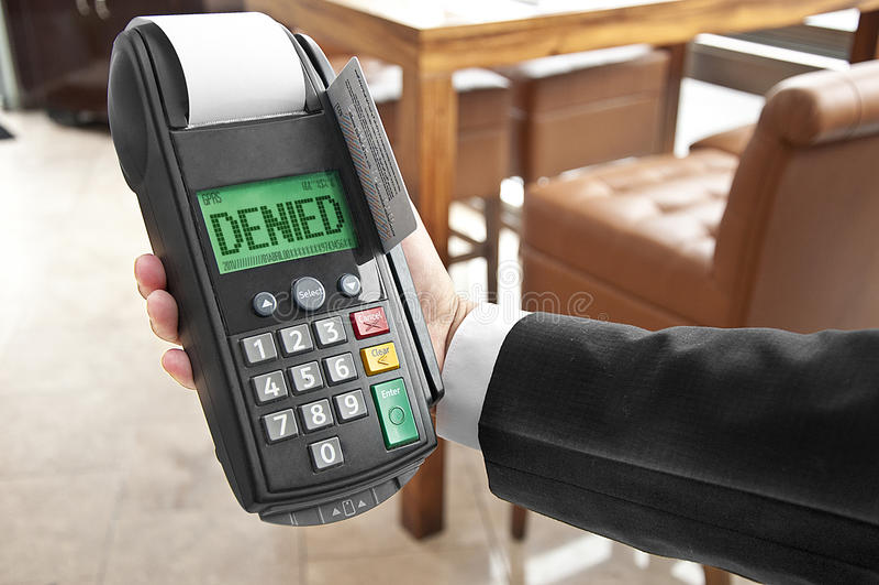 zaprzeczający karciany kredyt obraz royalty free