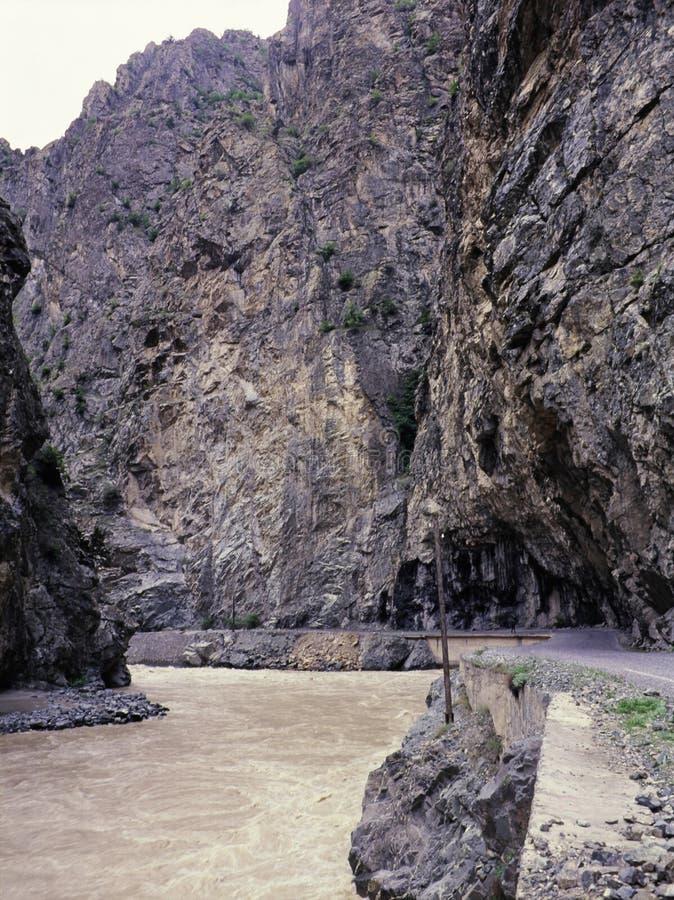Zapsuyu,一条土耳其的最长和最深的河 免版税库存图片