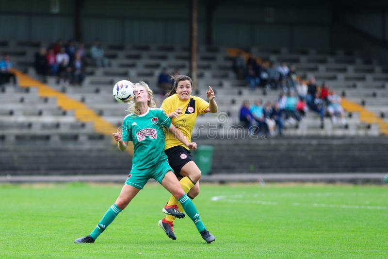 Zara Foley at the FAI Cup quarter final: Cork City FC vs Shelbourne FC royalty free stock images