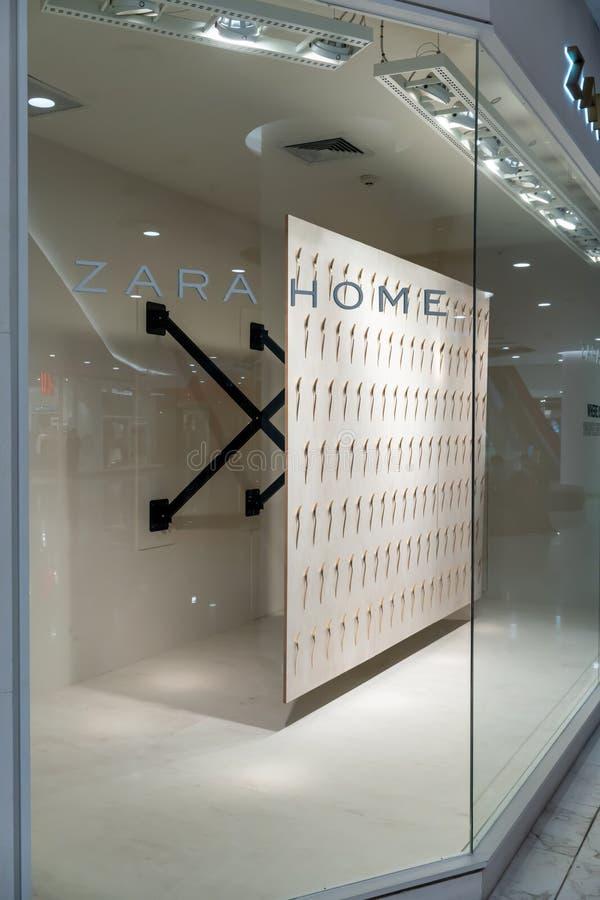 Zara Home shop at Emquatier, Bangkok, Thailand, Mar 8, 2018 : Luxury and fashionable brand window display stock photography