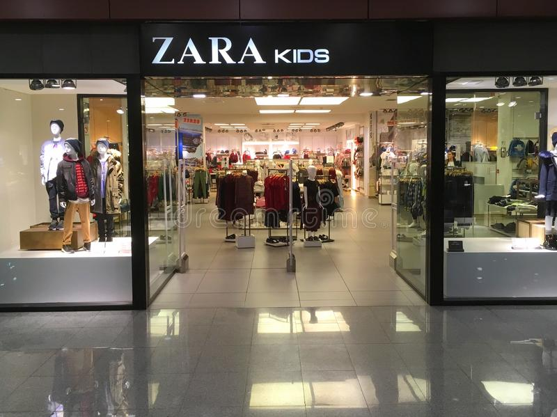 Zara Kids-Speicher lizenzfreies stockbild