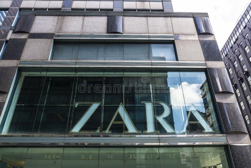 Zara lager i New York City, USA arkivbilder