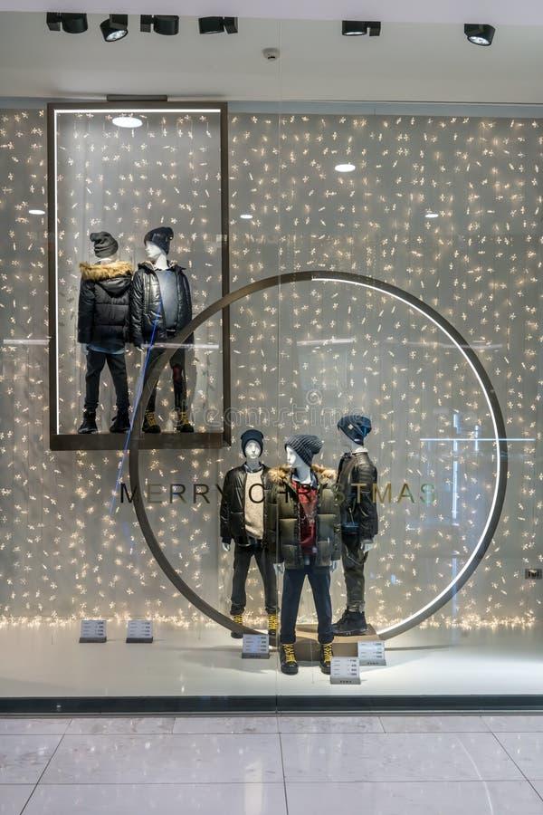 Zara sklep przy Emquartier Tajlandia, Dec 17, 2017 obraz stock