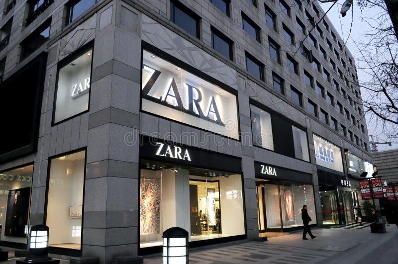 ZARA sklep w Hangzhou zdjęcie stock