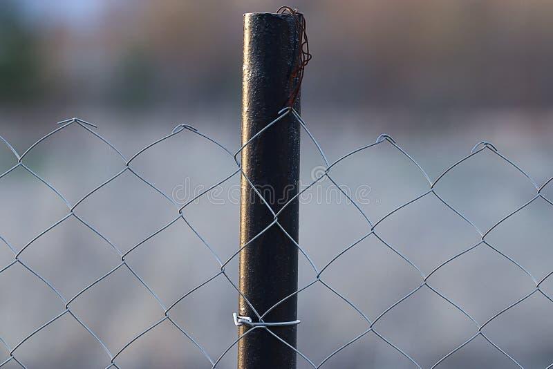Zarabiać netto ogrodzenia zamknięty up fotografia royalty free