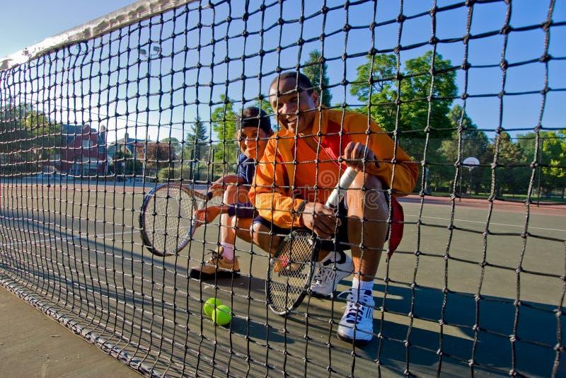 zarabia netto graczów tenisowych zdjęcie royalty free