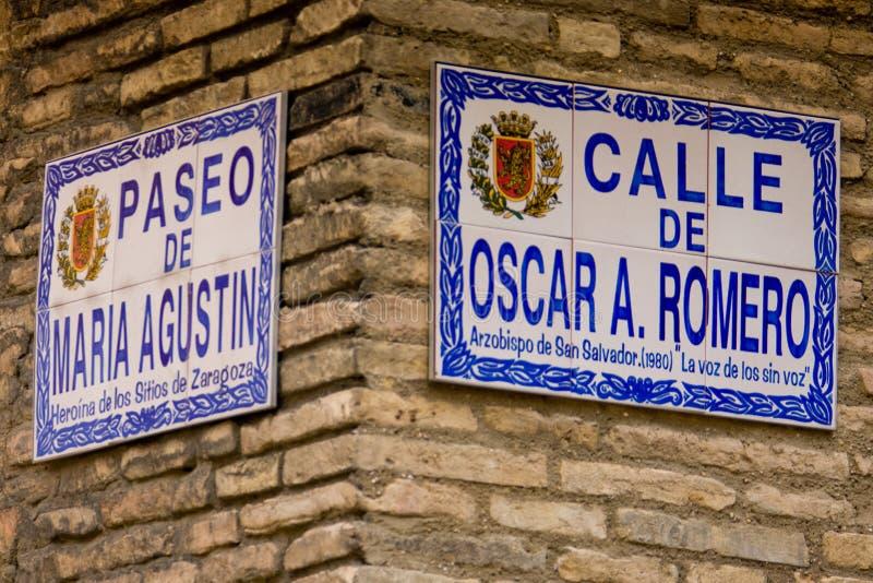 Zaragoza, Aragona, España imagen de archivo libre de regalías