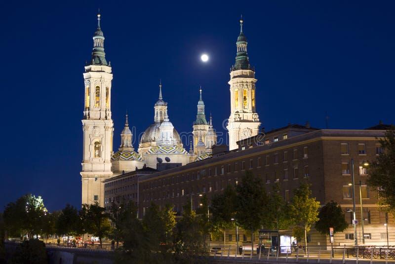 Zaragoza domkyrka royaltyfri fotografi