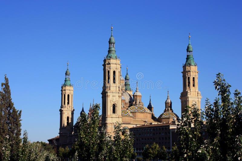 Zaragoza katedra obraz royalty free