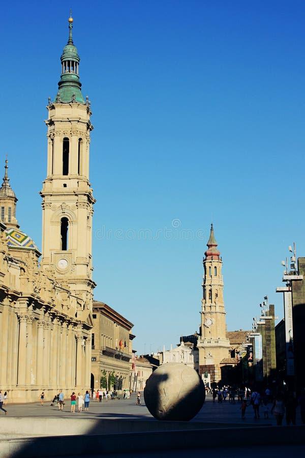 Zaragoza katedra obrazy royalty free