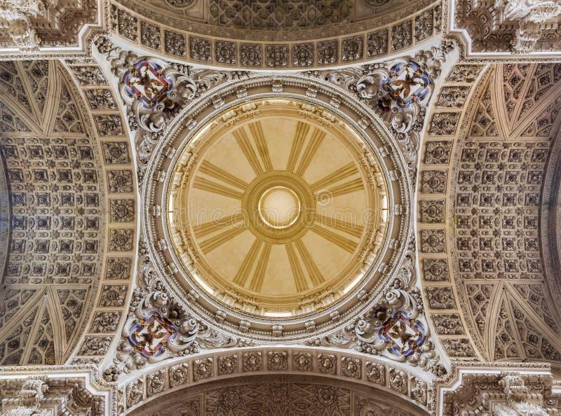 ZARAGOZA, SPAIN - MARCH 3, 2018: The cupola of church Iglesia de Santiago El Mayor - St James the Great 1860.  stock photography