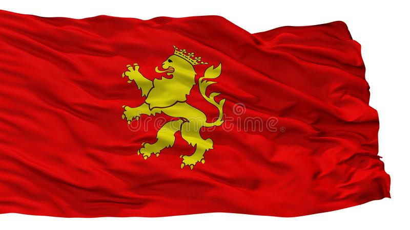 Zaragoza Stadsvlag, Spanje, op Witte Achtergrond wordt geïsoleerd die royalty-vrije illustratie