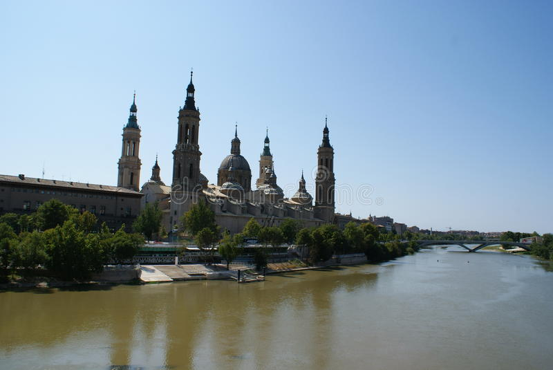 Download Zaragoza view (Spain) stock image. Image of monument - 12236193