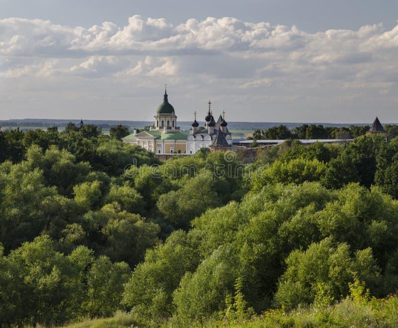 Zaraysk Kremlin przy latem zdjęcie stock