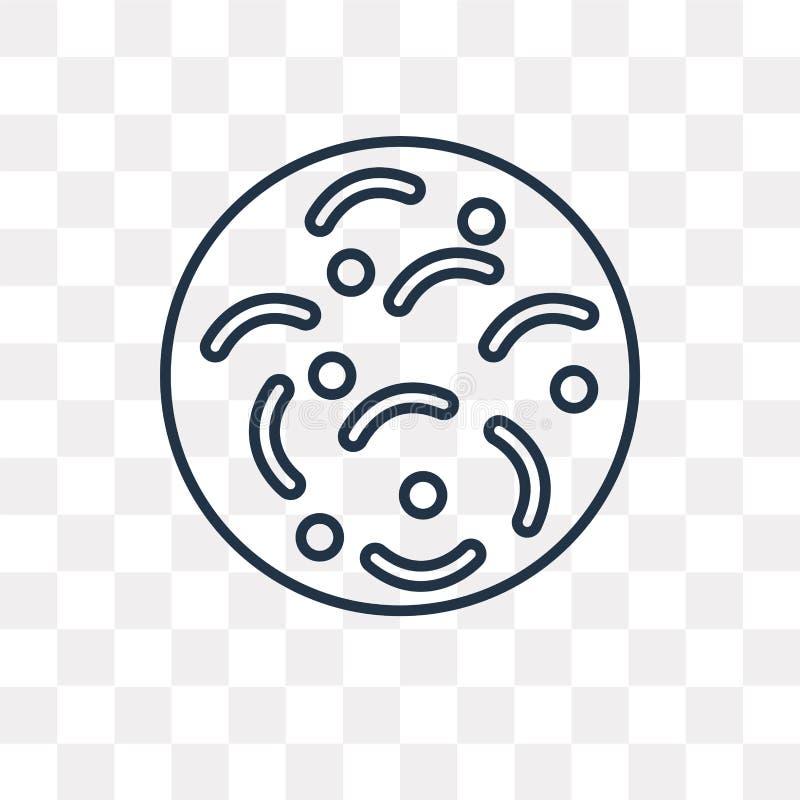 Zarazek wektorowa ikona odizolowywająca na przejrzystym tle, liniowy Ger ilustracja wektor