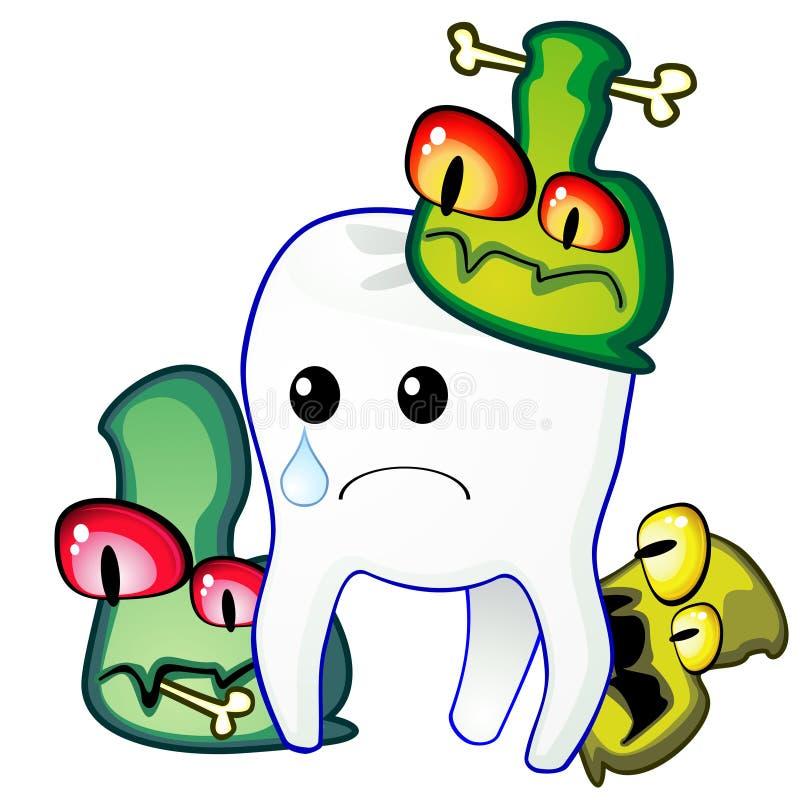 zarazka ząb ilustracja wektor