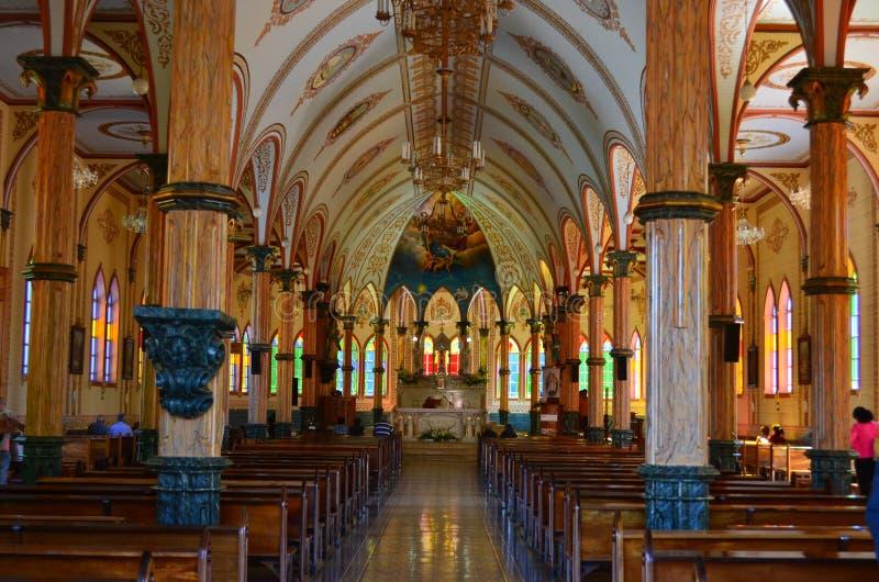 Zarcerokerk, Costa Rica Godsdienstige architectuur royalty-vrije stock foto's