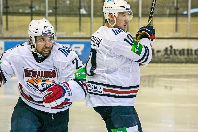 Zaripov e Mozyakin fotos de stock