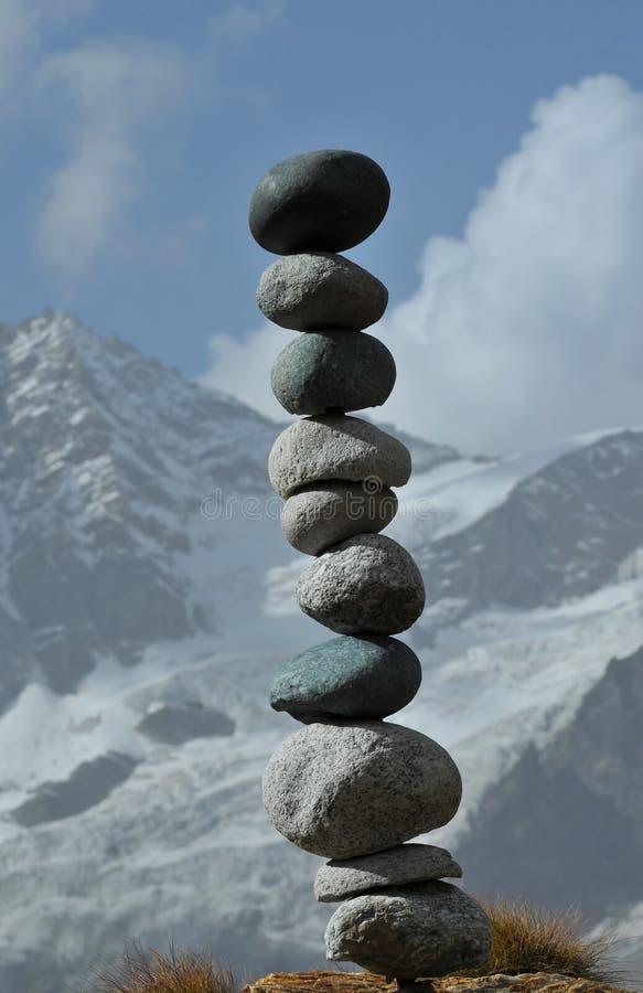 Zart ausgeglichen stockbild