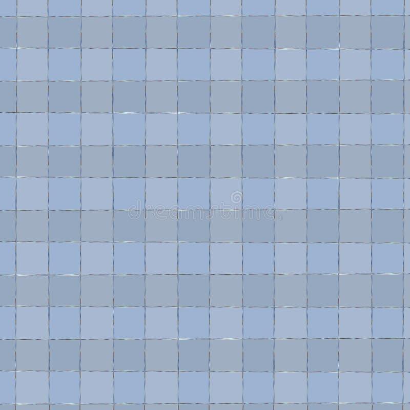 Zarte quadratische checs Beschaffenheit im hellblauen Jachthafen und blaue Farben für Druck oder Babygewebe stock abbildung