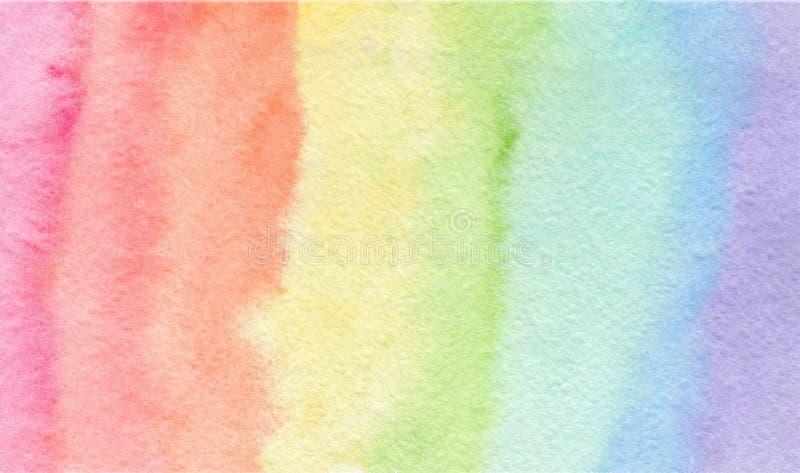 Zarter Regenbogenfarbaquarellhintergrund lizenzfreie abbildung