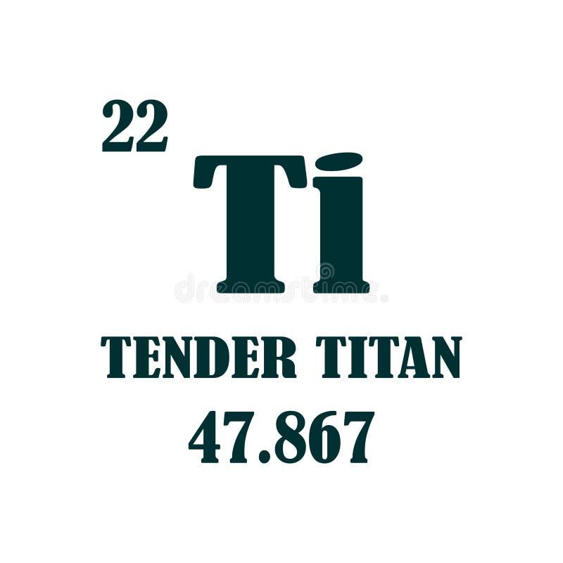 Zarter Titantext lizenzfreie abbildung