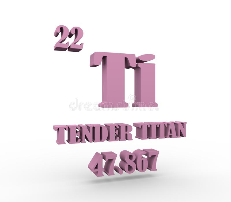 Zarter Titantext stock abbildung