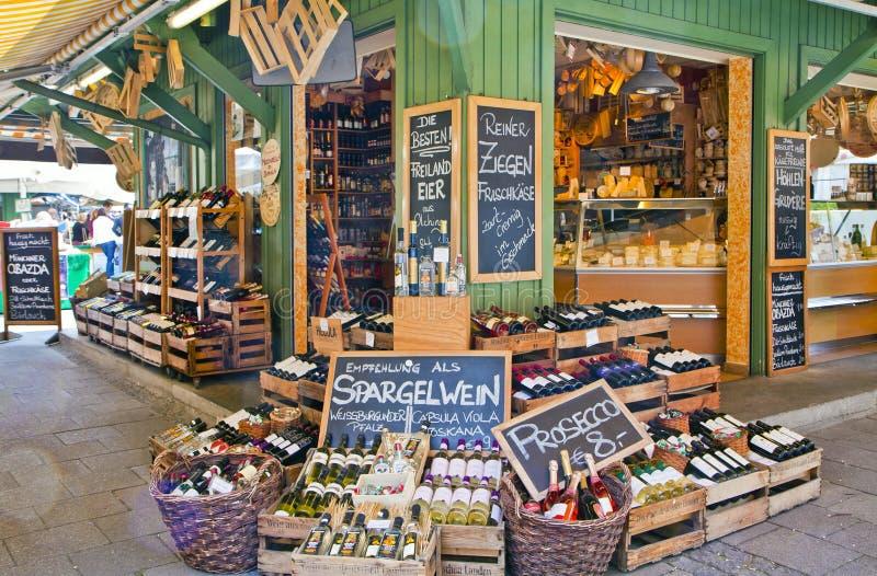 Zartheitsshop an Viktualien-markt, München stockfotografie
