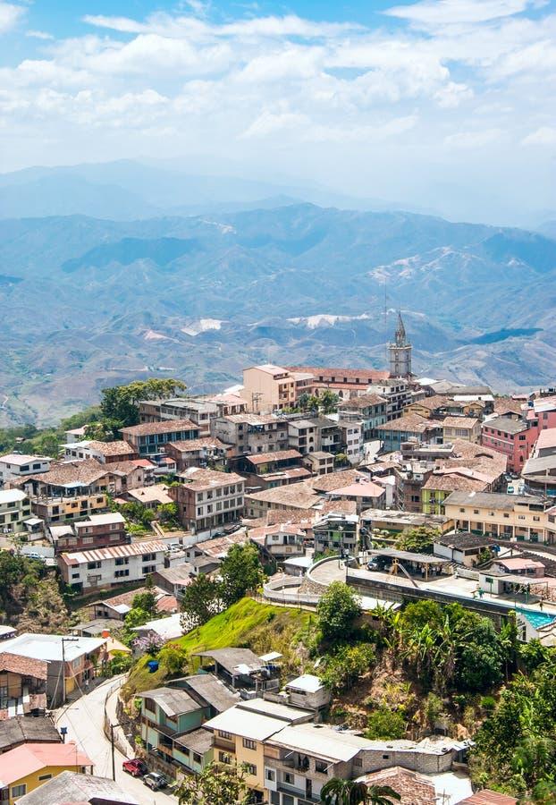 Zaruma - городок в Андах, эквадоре стоковые изображения
