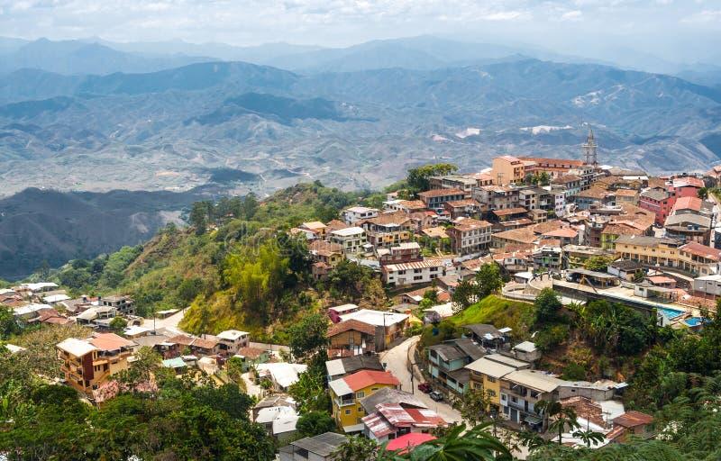 Zaruma - городок в Андах, эквадоре стоковые фото